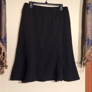 Larry Levine Stretch 10 Black Skirt